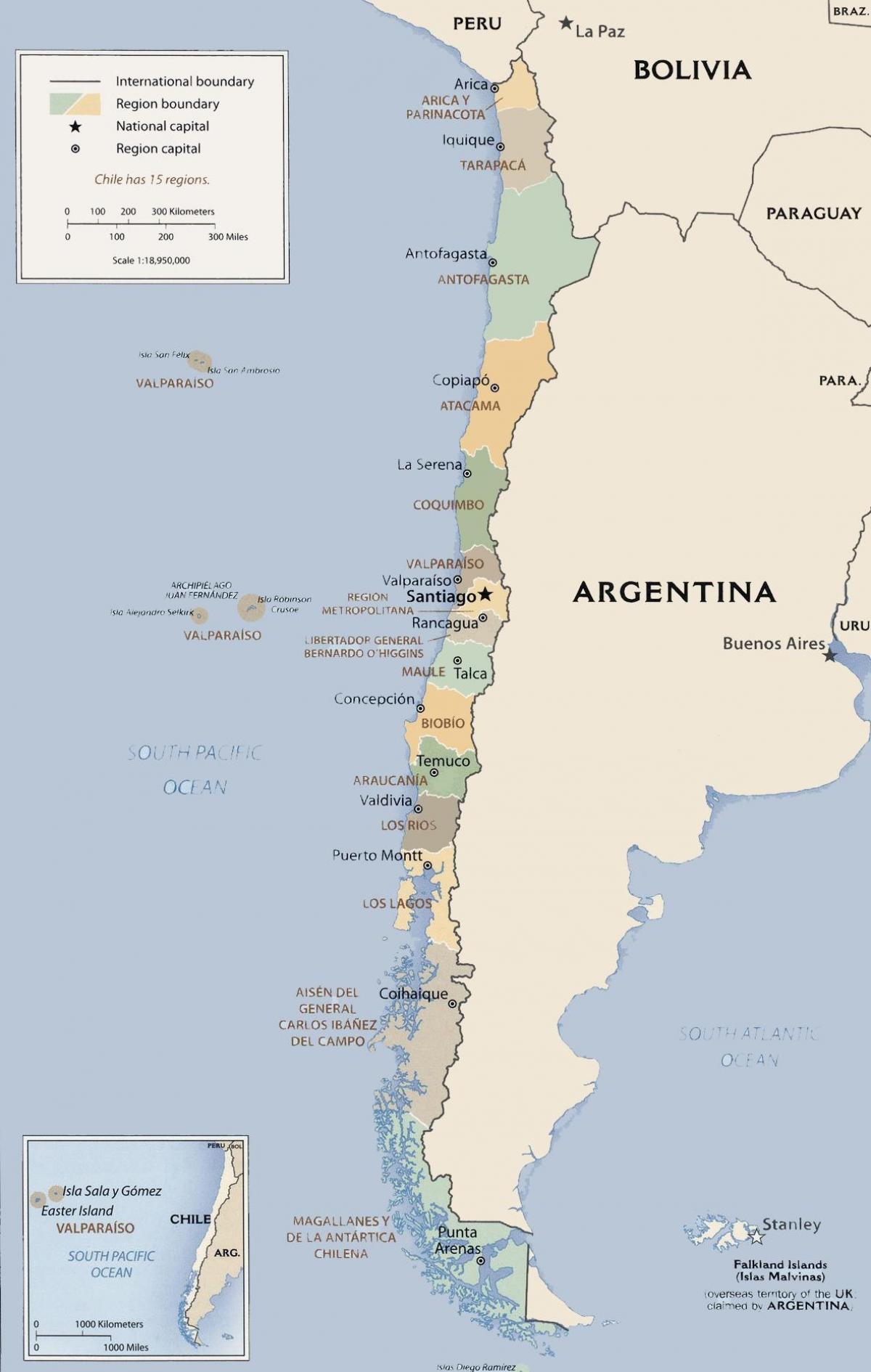 Mapa Politico De Chile.Mapa Politico De Chile Mapa Politico De Chile America Do